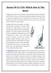 Dyson V8 Vs V10 - Which One Is The Best.doc