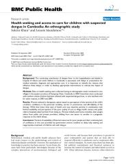 health seeking and access to care for children with suspected dengue in Cambodia.pdf