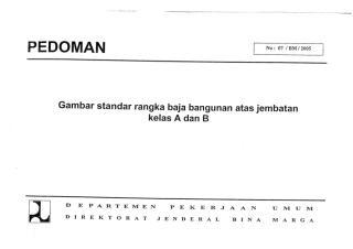 e book gambar standar rangka baja bangunan atas jembatan kelas a dan b.pdf
