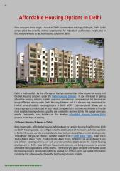 Affordable Housing Options in Delhi.pdf