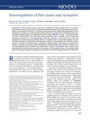 Downregulation of Wnt causes root resorption.pdf