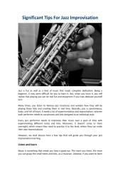 Significant Tips For Jazz Improvisation.pdf