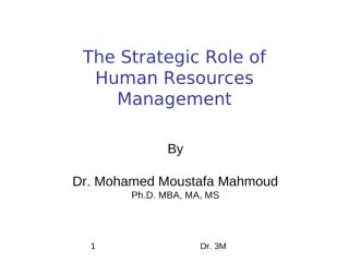 3M The Strategic Role of Human Resources Management.ppt