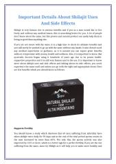 Important Details About Shilajit Uses And Side Effects.docx