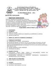 PLANEJAMENTO ANUAL 2011 - 2º ANO.doc