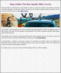 Shop Online The Best Quality Bike Carrier.pdf