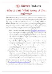 Play-It-Safe-While-Using -A-Transformer.pdf