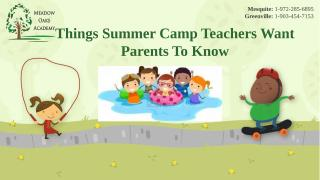 Things Summer Camp Teachers Want Parents to Know.pptx