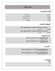 نموذج سيرة ذاتية - عربي.doc