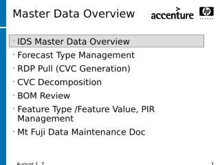 Mount fugi Master Data Overview (9-8-05).ppt